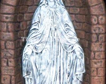 Blessed Virgin Statue Photo, Virgin Mary Photo Clipart, Catholic Art, Digital Art,Religious Art, Virgin Mary Grotto, Virgin Mary Illuminated