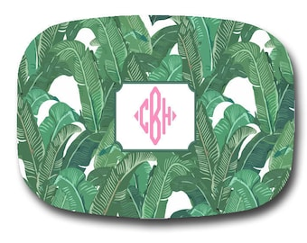 Plain or Personalized Tropical Banana Leaf Platter