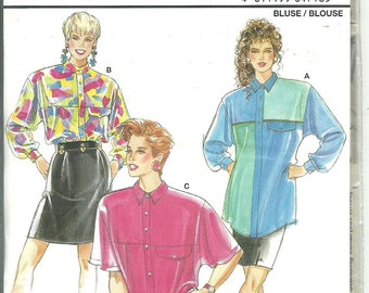 Burda Pattern 4718 Misses Oversized Loose Blouse Shirt (10 - 20) UNCUT