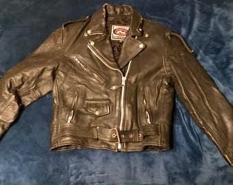 Vintage River Road leather jacket