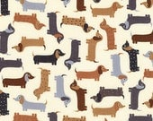 Mini Natural Weenie Dogs from Robert Kaufman's Urban Zoologie Mini Collection by Ann Kelle