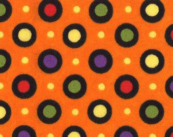 "End of Bolt - 17"" X 44"" - Orange HAPPY HOWLOWEEN From Moda"