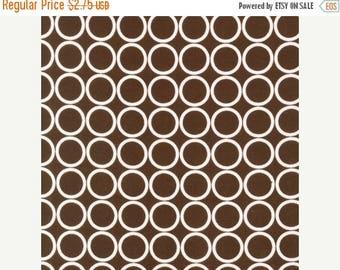SHOP CLOSING SALE Fat Quarter Fabric for quilt or craft Robert Kaufman Metro Living Circles in Chocolate