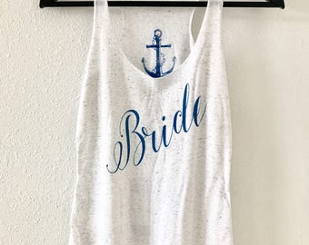 Bride. Bride Tank. Women's Eco Tri-Blend Tanks. Women Clothing. Best Day Bride. Gift Triblend Tank. Happy Shirt.