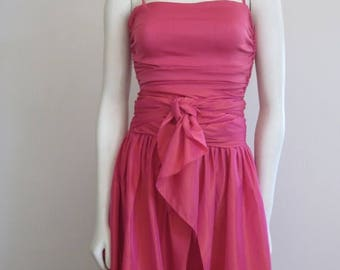 Emanuel Ungaro / Ungaro / Ungaro Dress / 80s Formal Dress / Two Piece Dress / Designer / Pink / Spring / Convertible Dress / Party Dress