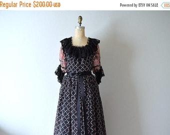 25% SALE Vintage 1970s dress . Jean Varon . John Bates dress