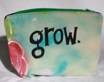 Hand Painted Fabric Zipper Pouch