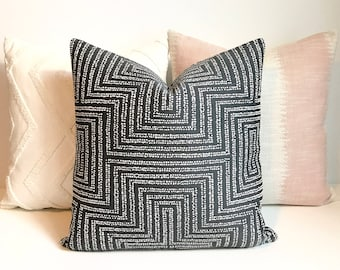 Charcoal gray dotted modern geometric dwell studio decorative pillow cover