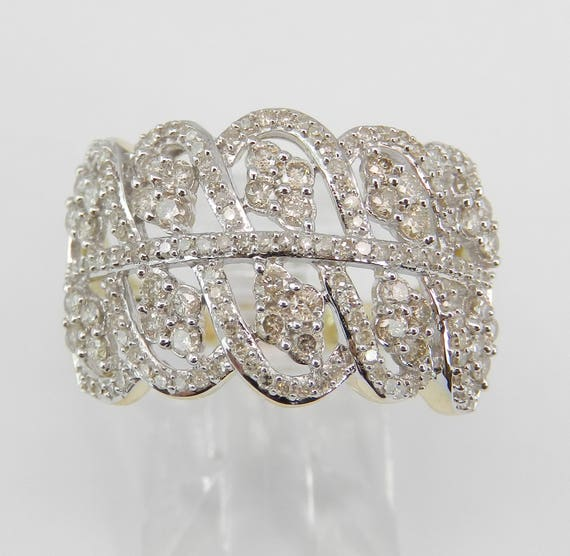 1.00 ct Diamond Cluster Ring Anniversary Cocktail Band Yellow Gold Size 7