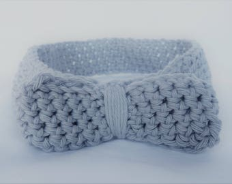 Handmade Knitted Headband - Grey