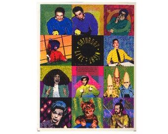 Vintage 90's HALLMARK Stickers Sheet ~ Saturday Night Live SNL