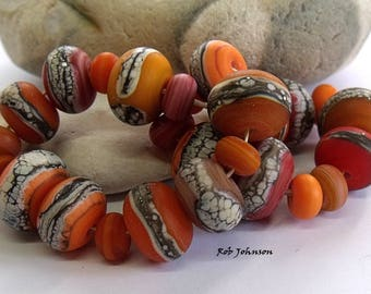 Autumn Mix, Lampwork Beads, SRA, UK
