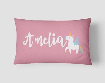 Personalised Name cushion Unicorn