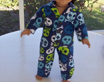 Great Navy Skull   Pajamas , fits American Girl Doll and other 18 inch Dolls