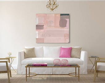 Pink Painting, Abstract Art Canvas, Contemporary Art Painting, Large Wall Art Painting, 36x36 Large Abstract Painting, Pink Abstract Art