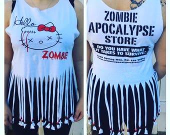 Hello Zombie handmade T-shirt