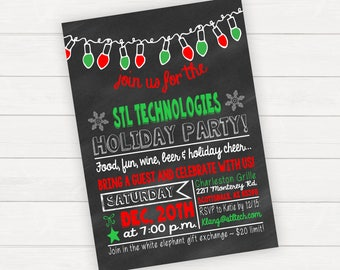 Christmas Party Invitation Christmas Party Invite Holiday Party Invitation Holiday Party Invite Winter Party Invitation Office Party