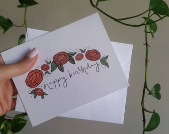 Happy Birthday 100% Recycled Paper Note Card