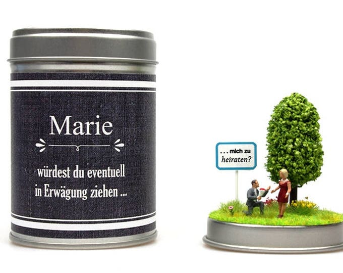 MARRIAGE PROPOSAL canned personalized