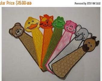 ON SALE ITH (In The Hoop) Animal Bookmarks - 5x7 (180x130) Perfect for the Kids - Quick and Easy To Make - Completed in One Hooping