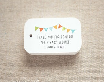 Baby Shower Favor Tags Personalized Gift Tags - Girl Baby Shower Gift Tags - Birthday Favor Tags Thank You Tags- Set of 24 (Item code: J721)