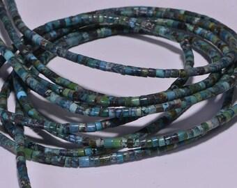 "Turquoise 2.9x2.5mm 16"" Strand Beads Heishi Turquoise Beads Natural Gemstone Beads Jewelry Making Supplies"