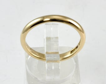 Antique or Vintage Men's Wedding Band - 14kt Gold - Size 9.5 - Classic Style Vintage Wedding Ring
