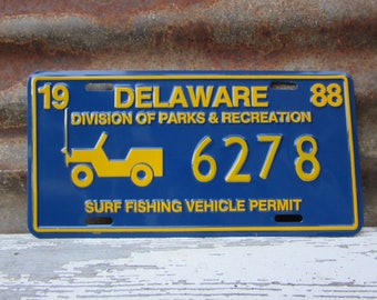Jeep license plate etsy for De fishing license