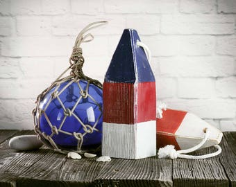 Set 2 Lobster Buoys & Fishing Float Nautical Coastal Decor by SEASTYLE