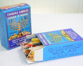 Vintage Telshe Yeshiva Chanuka Hanukkah Dripless Smokeless Candles - 2 Original Boxes - 55 Total Candles