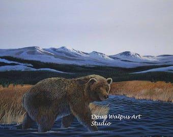 Bear Art Print, Black Bear, Animal Print, Wildlife Art, Bear Art, Wall Decor, Home Decor, Gifts, Art and Collectibles, Acrylic