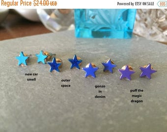 60% OFF Sale STAR studs  >> new car smell blue >> SALE << so amazeballs I just can't even
