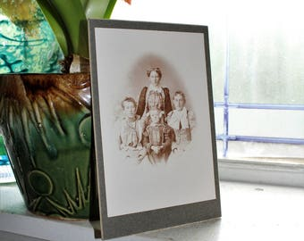 Antique Cabinet Card Photograph Beautiful Victorian Mother and Daughters