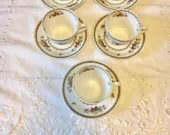coffeetea cups vintage cup and saucer spode tea cups spode saucer