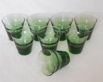 Libbey Mint Ripple Old Fashioned Glasses, Saturn Optic, Hostess Set of Eight, IOB