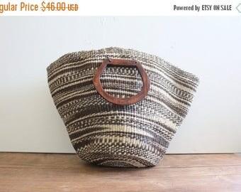 ON SALE Vintage Woven Market Bag