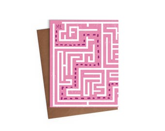 Valentines Day - Love Greeting Card - I Found You - Digitally Printed A2 Cards w/ envelope - Direct Mail