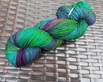Nightshade: 100g hand dyed merino/nylon sock yarn