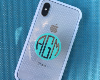 Phone Stand Monogram Decals ( DECAL ONLY) Free shipping