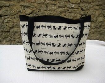Bag tote bag shoulder, theme cats