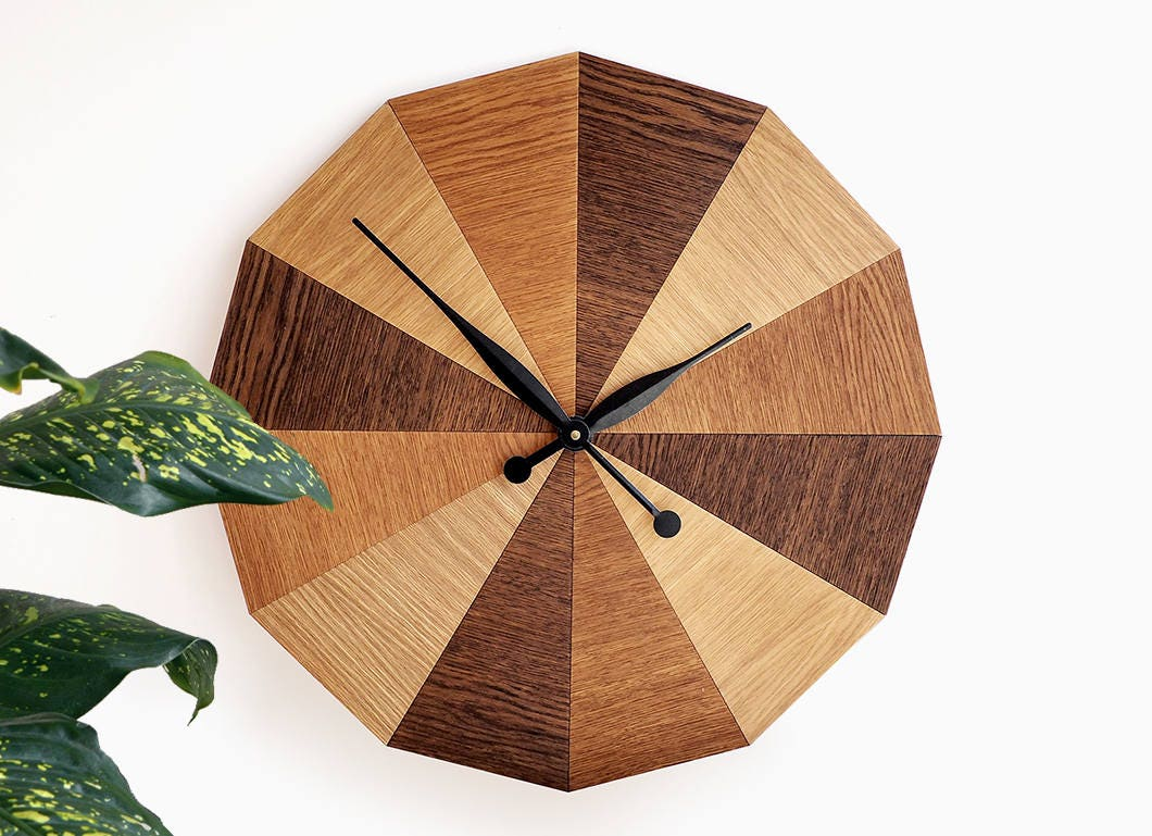 Extra Large Modern Wood Wall Clock