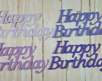 12 Happy Birthday die cuts embelllishments, Card Topper, Decoration