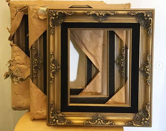 SET of 3:  Vintage picture frame for 8 inches x 10 inches painting, Antique picture frame, Victorian picture frame , Baroque style