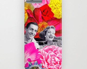 "Collage ""She Drives Me Crazy"" Vintage Floral Phonecase - for IPhone and Samsung Galaxy."