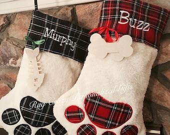 Christmas Stockings, Monogrammed Pet Stockings, Pet Stockings, Personalized Stockings, Dog stockings, Cat stockings