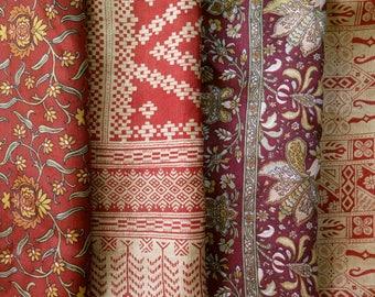 Fat Quarters, Silk Fabric, Sari Silk, FQ 185