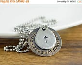 SALE 10% Off Personalized Father's Necklace, Father's day gift, Dad necklace, Hand Stamped Mens Necklace, Mens Personalized Necklace, Mens J