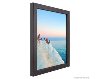 """Craig Frames, 16x20 Inch Modern Charcoal Black Picture Frame, Colori 0.75"""" Wide (720201620)"""