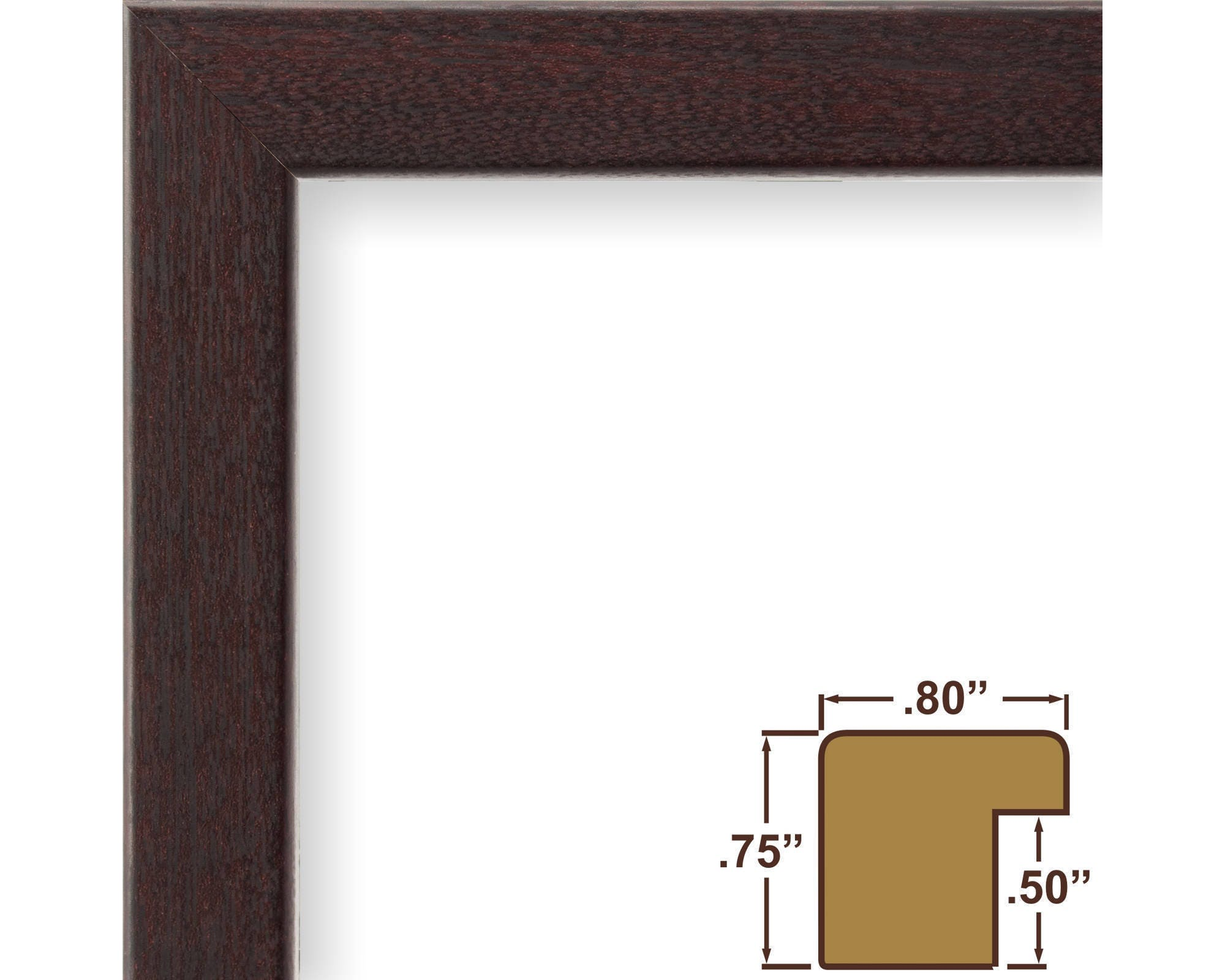 Craig frames 19x25 inch burgundy walnut picture frame bauhaus sold by craigframes jeuxipadfo Image collections
