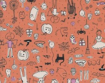 PRESALE - Lil' Monsters - Party in Orange - Cotton + Steel - 5127-02 - 1/2 Yard